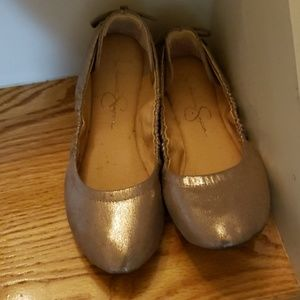 jessica Simpson lightly worn ballet slippers